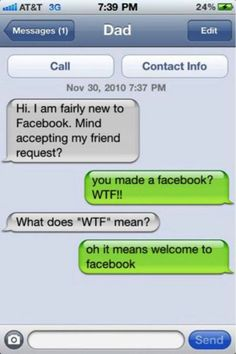 23 Reasons Why Parents Shouldn't Be Allowed To Text 6 - https://www.facebook.com/diplyofficial