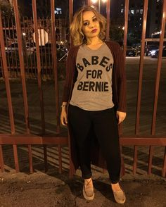 Thanks for this awesome tee @printliberation! Couldnt wait to wear it to #artwalk tonight! #berniesanders #babesforbernie #babes #printliberation by mrssiguenza
