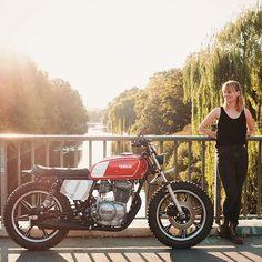 Moto Love:  1980 Yamaha XS400 by @hookieco of Dresden, Germany.
