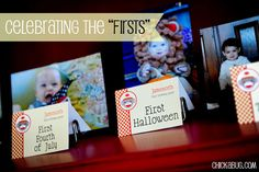 "Make a photo display of your baby's ""firsts"""