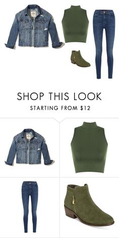 """""""Green and Denim"""" by jessiecary on Polyvore featuring Hollister Co., WearAll, J Brand and Aerosoles"""