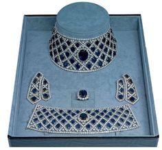 Diamond and Sapphire parure by Jahan