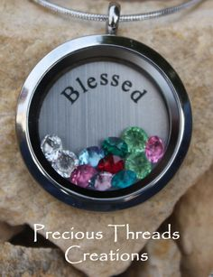 Stainless Steel Round Floating Locket by PreciousThreadsShop, $76.00  #preciousthreadscreations