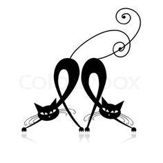 Grafiken von 'Graceful schwarze Katze Silhouette für Ihr Design'                                                                                                                                                                                 Mehr