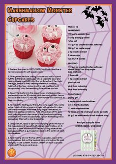 We hope you had a fang-tastic Halloween! If you're still in the spooky swing of things, why not try out these Marshmallow Monster Cupcakes from Make, Bake, Cupcake?