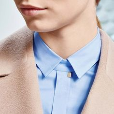 French blue cotton - the perfect match for soft, textured camel #thisisboss #fallwinter2015
