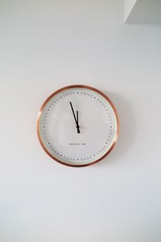 The Copper Aurelia Clock Is Simple But Stylish