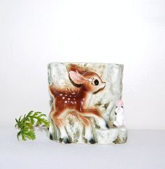 Vintage Deer Kitsch Planter by ChristmasVintage on Etsy, $14.50