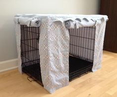 The Moroccan Trellis pattern is a new addition to our crate cover line. Here's a good view of the 2 roll up/down doors for both crate cover doors. Matching bed available - sold separately. Available at www.bowhausnyc.com