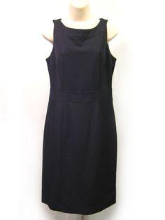 H&M Black Sleeveless Sheath Dress Boat Neckline Women's Size 10 New with Tags #HM #Sheath #WeartoWork