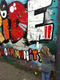 Brighton street art / graffiti in Stoneham Park