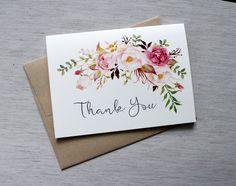 Watercolour Wedding Thank you cards. Thank you cards.