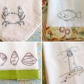 By The Sea Hand Embroidery Pattern Set - via @Craftsy