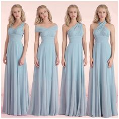 Convertible Bridesmaid Dresses Light Sky Blue Chiffon Wedding Party Gowns 2016 Ruched Long Simple Cheap Dress For Women Little Girls Bridesmaid Dresses Maternity Bridesmaids Dresses From Firstladybridals, $61.56| Dhgate.Com