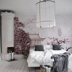 Goodnight world | #wallart #japan #interiors #pinterest #linen #spaces by thelittleinterior presented by SuperiorCustomLinens.com