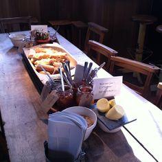 Bread an jam breakfast at Monmouth Coffee (Borough Market, London)