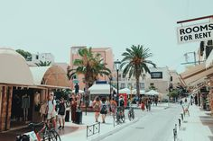 group of people walking on street near majesty palm trees - Antalya, Granada, Santorini, Europa Im Winter, Cool Places To Visit, Places To Go, Majesty Palm, Travel Picture, Kairo