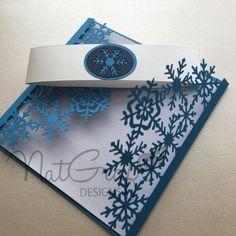 Snowflake Card por NatGrafDesigns en Etsy