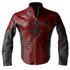 Superman Man of Steel & smallville Black And Red leather shield jacket on… Faux Leather Jackets, Leather Men, Red Leather, Mode Geek, Estilo Tomboy, Moda Pop, Superman Man Of Steel, Look Cool, Swagg
