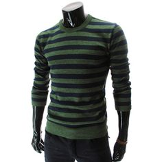 (SG01-GREEN) Slim Fit Wool Knit Tshirts