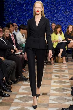 The tailored black suit... Dior