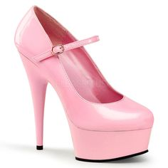 DELIGHT-687 Pleaser Sexy Shoes 6 Inch Stiletto Heel Mary Jane Dolly Shoes  Pumps  . Platform KengätNaisten ... d21373922a