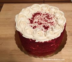 Red Velvet Cake made from scratch with fresh buttermilk and my vanilla buttercream made with real butter.