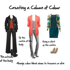 Using a Column of Colour to Look Taller and Slimmer - Inside Out Style