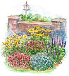 FLOWER BED GardenPuzzle online garden planning tool Garden