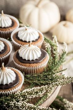 40 Creative Fall Decorating, Entertaining and Recipe Ideas Pumpkin Smores Cupcakes More Cupcakes, Pumpkin Cupcakes, Autumn Cupcakes, Christmas Cupcakes, Vanilla Cupcakes, Pumpkin Recipes, Fall Recipes, Sweet Recipes, Cupcake Recipes