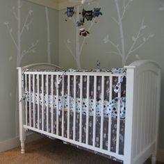 grey owl crib bedding
