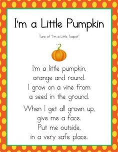 Students will be able to create a cute little book of their very own with this cute download! Includes:* I'm a Little Pumpkin poem page* Booklet cover pages (1 color and 1 bw)* Booklet pages (with 2 different line sizes to choose from based on your students abilities).