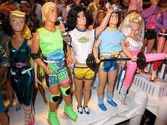 Barbie - had the one on the far right... exercise barbie?