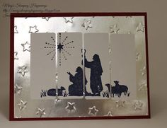 There's A Card Thursday - August 2015 - Every Blessing Lucky Star Christmas Card Create Christmas Cards, Homemade Christmas Cards, Stampin Up Christmas, Christmas Greeting Cards, Christmas Greetings, Homemade Cards, Holiday Cards, Christian Christmas Cards, Christmas Projects