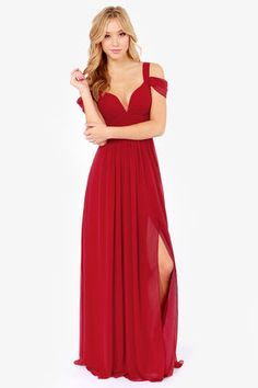 Bariano Ocean of Elegance Wine Red Maxi Dress at LuLus.com! Absoulutly love! If I had an extra $200 laying around! ... <3