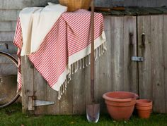 Fouta towel ... can also be used as tablecloth, shawl, throw ... obsessed with these!!!
