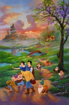 """Snow White's Romance"" by Jim Warren for Disney Fine Art"