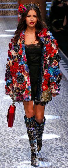 Dolce&Gabbana Outono inverno 2017/18 MFW - Floral