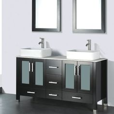 "Found it at Wayfair - Adrian 59"" Double Bathroom Vanity Set with Mirror"