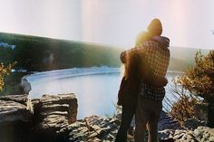 As fall goes in to winter. Together outdoors. Couple Photography.