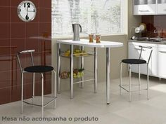 Kit 2 Banquetas Alta com Encosto - Móveis Carraro Fortaleza com as melhores condições você encontra no Magazine Voceflavio. Confira!