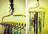 Another rake necklace holder.