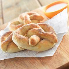 Soft Cinnamon and Sugar Pretzels (Intermediate; 24 pretzels) #cinnamon #pretzels #snacks