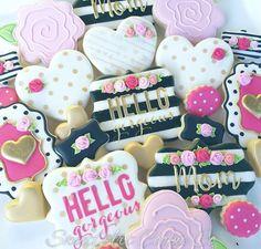 Beautiful Kate Spade themed cookies by SweetArt Cookie Co
