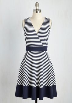 Maritime is on Your Side Dress in Navy
