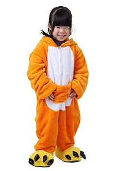 "Tonwhar Children's Halloween Costumes Kids Kigurumi Onesie Animal Cosplay (95(height:41.3""-45.27"") Kangaroo)"
