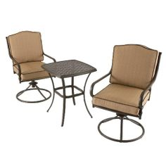 Martha Stewart Living   Mallorca Cafe Set   Add Stylish Seating To Your  Patio Area. Olefin Fabric Cushions Resists Mildew And Fading.