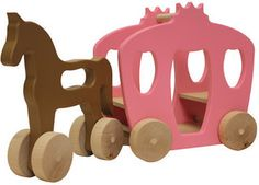Large Horse & Carriage Wooden Push Toy - ShopStyle