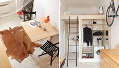 I den ene ende af boligen finder man et kompakt køkken med vask og køleskab. Til højre for køkkenet finder man et lille toilet på omkring en kvadratmeter.
