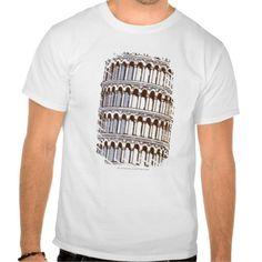 Illustration of the Tower of Pisa T Shirt, Hoodie Sweatshirt